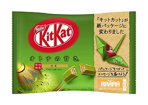 Japanese Kit Kat Matcha Green Tea Flavor   Nestle KitKat Matcha Grüntee, mini 14 pcs (Japan Import)