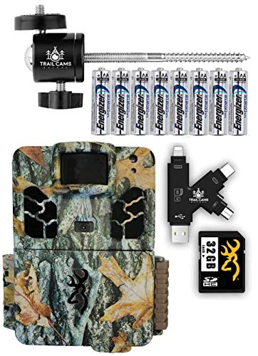 Browning Dark Ops Apex Trail Camera with Batteries, SD Card, Card Reader, and Mount