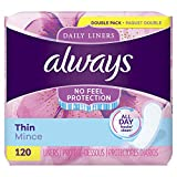 Best Panty Liners - Always Thin Daily Liners, Regular Absorbency, 120 Count Review