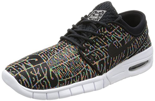 Nike Men's Stefan Janoski Max PRM Skate Shoe Black/White-Multi-Color-Black 7.5 M US