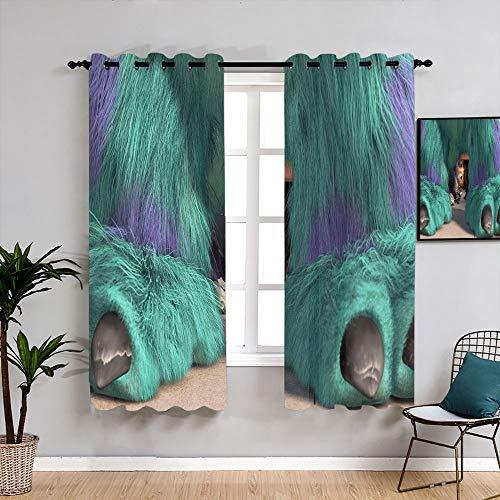 Monsters Inc Michael Wazowski Cartoon Customized Curtains Grommet Blackout Curtains Waterproof Window Curtain for Windows Decoration W72 x L63