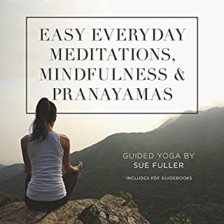 Easy Everyday Meditations, Mindfulness, and Pranayamas audiobook cover art