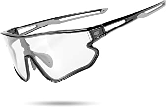 ROCK BROS CATEYE Photochromic Sunglasses for Men Women Bike Glasses 100% UV Protection for Outdoor Sports Cycling Driving Fishing Running Golf Beach Baseball Goggles
