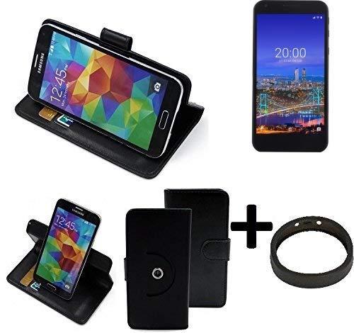 K-S-Trade® Case Schutz Hülle Für -Vestel 5530- + Bumper Handyhülle Flipcase Smartphone Cover Handy Schutz Tasche Walletcase Schwarz (1x)