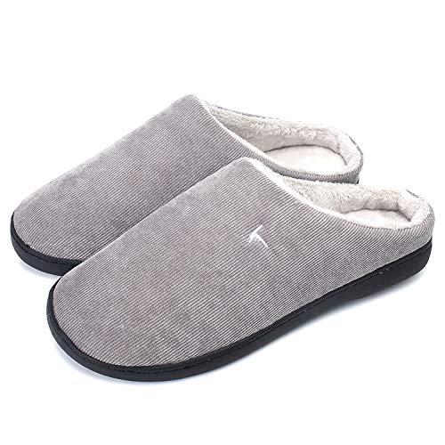 OUSIMEN Hausschuhe Herren Damen Memory Foam Pantoffeln Bequemer Clog,4 Hellgrau,42/43 EU (CN 41/42)