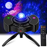 PAIPU Star Projector LED Night Light - UFO 4 in 1 Galaxy Projector,Starry Nebula Room Light with Adjustable Tripod Stand and Dual Stereo Speaker,for Kids Adults Bedroom Party Wedding