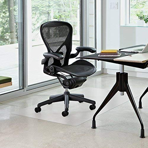 """Vinyl Office Chair Mat - for Hard Floor Tile Scratch, Mark, and Scuff Resistant Protection on Tile, Hardwood, Vinyl, Laminate (36"""" x 48"""")"""