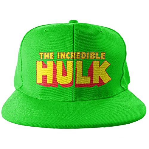 Officiellement Marchandises sous Licence The Hulk Taille Ajustable Snapback Casquette (Vert)