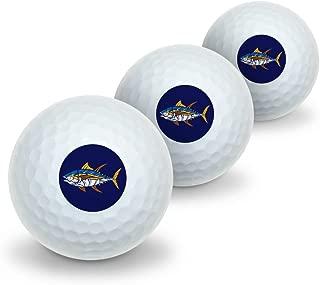 GRAPHICS & MORE Tuna Fish Design Novelty Golf Balls 3 Pack