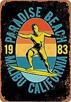 Paradise Beach Malibu Surfing ティンサイン ポスター ン サイン プレート ブリキ看板 ホーム バーために