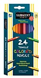 Sargent Art 22-7207 Triangle Colored Pencils, 24 Count
