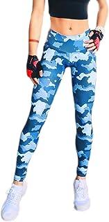KINDOYO Women Leggings, Camouflage Sports Yoga Pants Workout Fitness Exercise Pants Tight Leggings