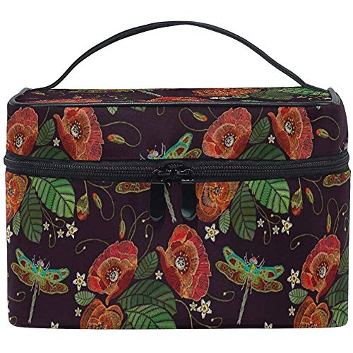 Trousse de Maquillage Rose Sakura Flower Travel Cosmetic Bags Organizer Train Case Toiletry Make Up Pouch