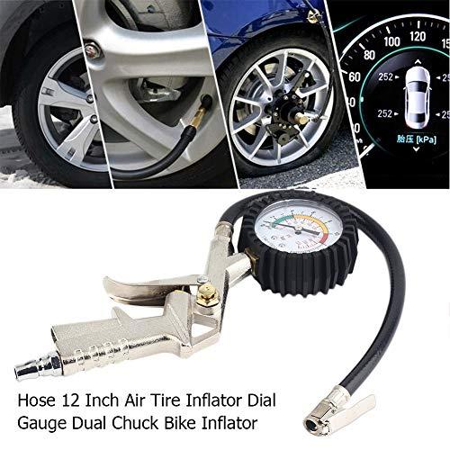 YSHtanj Alarm Systemen & Beveiliging Inflator HD luchtband Inflator met Wijzerplaat Gauge Auto Truck Bike Compressor Pistol Type
