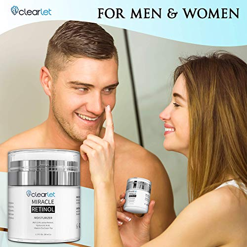 51uvcyncurL - Retinol Cream for Face Moisturizer for Women Men Anti Aging Face Wrinkle Cream Retinol Facial Eye Cream Reduces wrinkles Fine Lines Day Night Facial Creams Retinoid Mens Retinol Moisturizer for Face