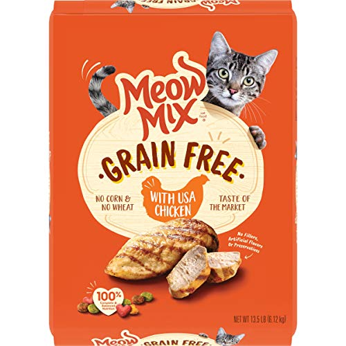 Meow Mix Grain Free Dry Cat Food, Chicken, 13.5 Pounds