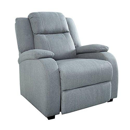 Invicta Interior Relaxsessel Hollywood hellgrau Stoff verstellbar Liegesessel Sessel Fernsehsessel Wohnzimmer mit Liegefunktion Strukturstoff