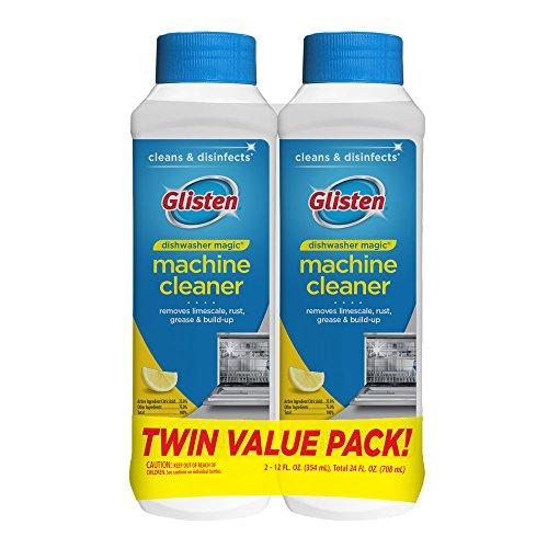 Summit Brands DM03N-SS Glisten Dishwasher Magic Machine Cleaner and Disinfectant, 12 Fl Oz Bottle, 2-Pack , White