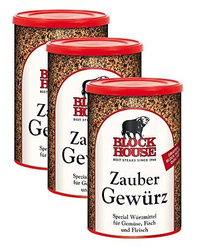 Block House Zaubergewürz XXL Dose , 3 x 280g