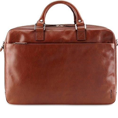 Picard Buddy cognac 5757 , Leder Aktentasche Umhängetasche mit Tablet Fach z. B. fürs iPad + Galaxy Henkeltasche Ledertasche Businesstasche Tasche