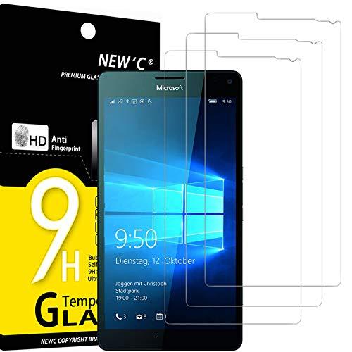 NEW'C 3 Pezzi, Vetro Temperato Compatibile con Nokia Microsoft Lumia 950 XL, Pellicola Prottetiva Anti Graffio, Anti-Impronte, Durezza 9H, 0,33mm Ultra Trasparente, Ultra Resistente