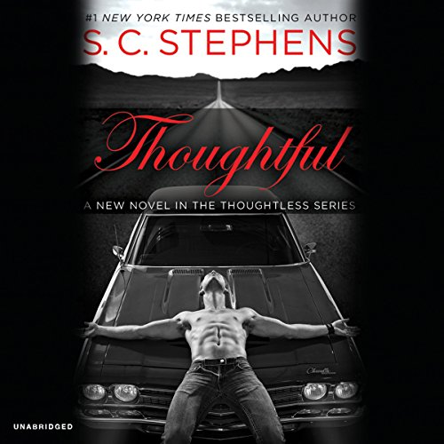 Thoughtful audiobook cover art
