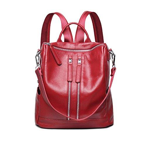 YAAGLE Damen echt Büffelledertasche moderne multifunctionale Schultertasche weiche Leder wasserdichte Rücksack