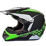 QYWSJ Casco de Motocross para Moto, Bicicleta de Carretera ATV Off Road Go Karting Casco para Moto, Casco de Choque Deportivo Enduro, Estilos MúLtiples (54~61 cm)