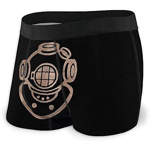 Web--ster Vintage Casque de plongée Plongeur plongée sous-vêtements pour Hommes Boxer Confortables avec Taille élastique Taille XL