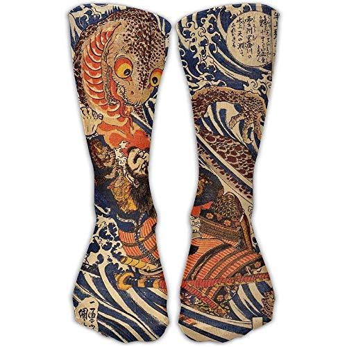 Daisylove - Calcetines deportivos para hombre y mujer, diseño de guerrero japonés Samurai