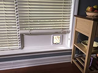 Cat Door For The Window. Installs in Minutes. No tools required. Removable. Made in the U.S. with 100% PVC trimboard. Durable base that won't rot, warp, split or break.