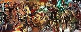 Póster de la web Marvel Comics Iron Man Spider Man Wolverine con acabado mate, 30,5 x 45,7 cm, multicolor