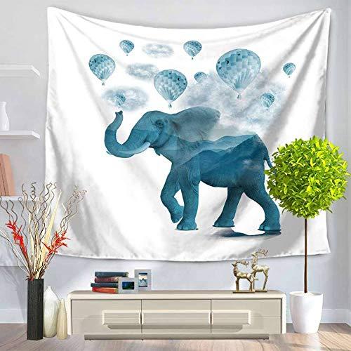 AdoDecor Tapiz Bohemia Mandala Mantas Elefante Manta para Colgar en la Pared Dormitorio 150x100cm/59 * 39inches
