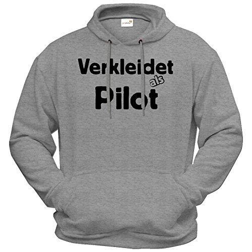 getshirts - Best of - Hoodie - Fasching - Verkleidet als Pilot - graumeliert XXL