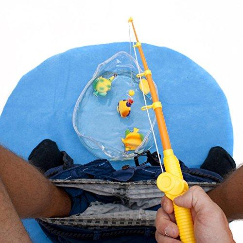 GOODS+GADGETS Toiletten WC Angel Set - Das lustige Fischen Angeln Spielzeug Potty Fisher fürs Klo