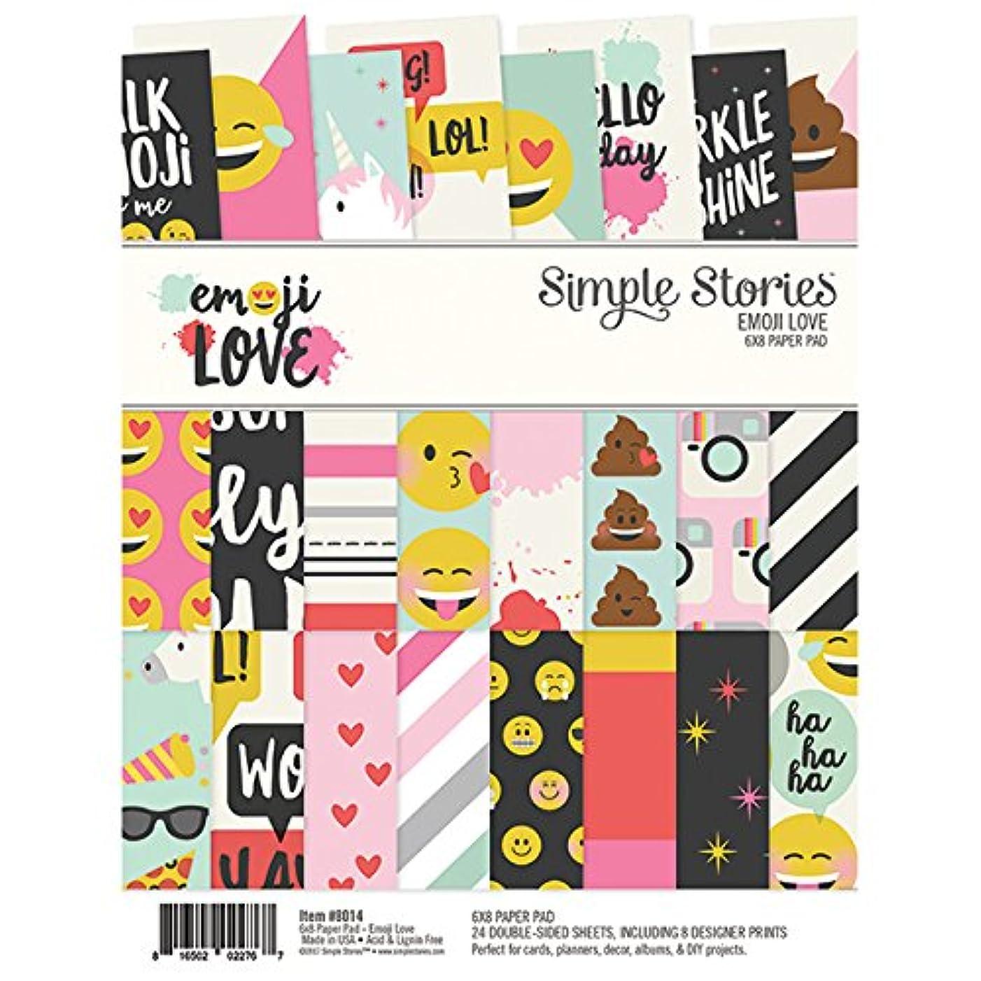 Simple Stories Emoji Love 6x8 Paper Pad