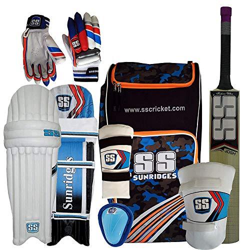 Ss Kashmir Willow Cricket Full Kit Size- Youth, Nylon