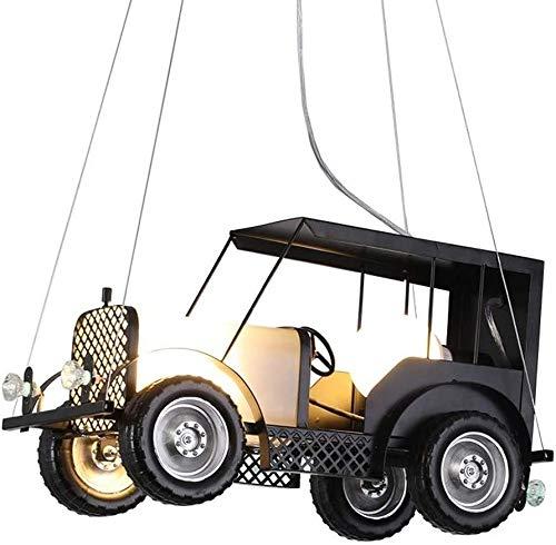 Lámpara de cristal Retro Techo Colgante Lámpara Estilo Industrial Europeo Colgante Dormitorio Luz Droplight Metal Cars Forma Chandelier Inicio Iluminación Ajustable Lámpara Colgante Creativa