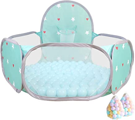 WJSW Kids Ball Pit Indoor Outdoor Baby Playpen Large Pop Toddler Tent For Toddlers Girls Boys Portable Easy Folding Play Area  Blue