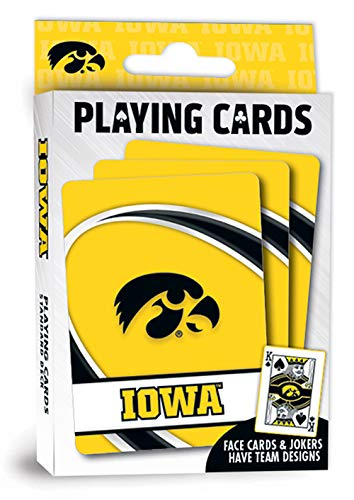 "MasterPieces NCAA Iowa Hawkeyes Playing Cards Yellow 4"" X 0.75"" X 2.625"""