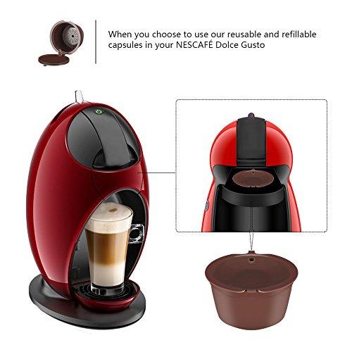 Cápsula de café, cápsulas recargables de Dolce Gusto reutilizables ...