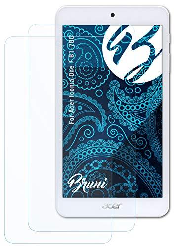 Bruni Schutzfolie kompatibel mit Acer Iconia One 7 B1-780 Folie, glasklare Bildschirmschutzfolie (2X)