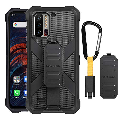 Ulefone Armor 7, Armor 7E Cas Multifunctional Protective Shell in Black TPU with Rear Clip