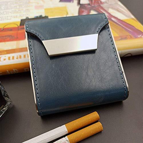 Yppss - Portabicicletas de piel sintética resistente de metal para cigarrillos, portátil,...