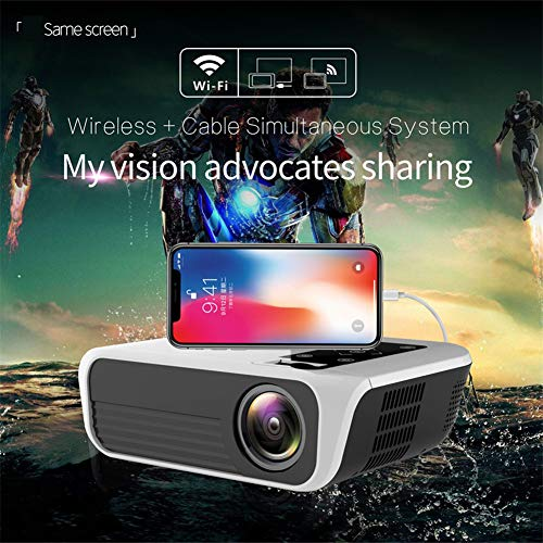 LED-projector 1920 * 1080 Full HD 1080p Android 7.1 3000 lumen Amlogic S905 2G 16G Proyector Optionele thuisbioscoop van Beame, Syncscreenversie.
