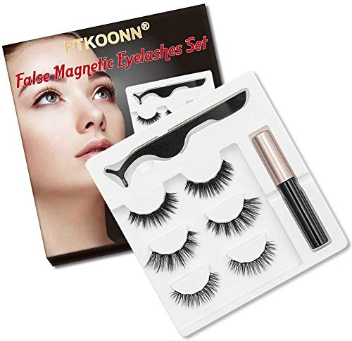 Faux Cils Magnétique,Eyeliner Magnétique Kit,Magnetic Eyeliner 3D Liquides...