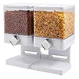 Nrpfell Recipiente de limentos Secos Snack Dispensador de Cereales horro de Espacio en el Hogar Hogar Fresco Contenedor de lmacenamiento Doble Multifuncional Grande