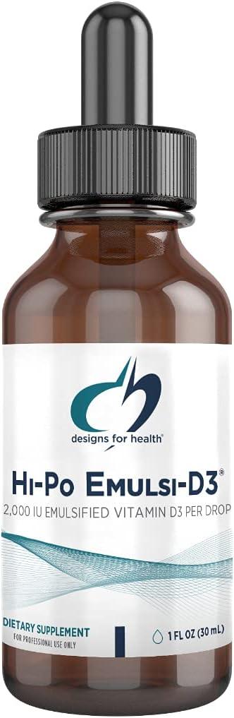 Designs for Health Rare 2000 IU Vitamin D lowest price Hi-Po Emulsi-D3 - Emu Drops