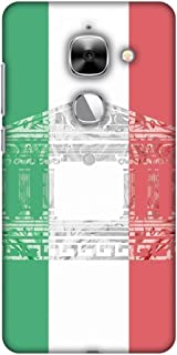 AMZER Slim Fit Handcrafted Designer Printed Snap On Hard Shell Case Back Cover for Leeco Le Max 2 - The Pantheon of Rome- Italy Flag HD Color, Ultra Light Back Case