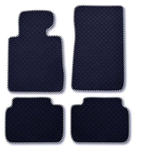 RAU DOctaRace0932 Rubber Mats Black with Race Edging with Mat Holder Front and Rear
